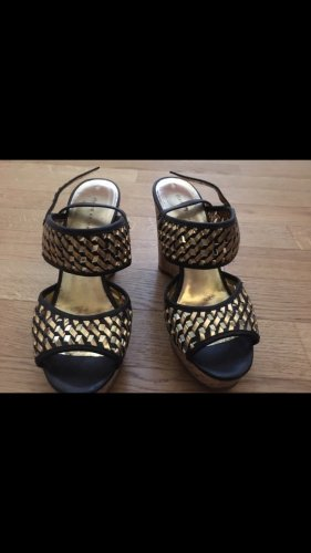 Marc by Marc Jacobs Strapped Sandals black-gold-colored