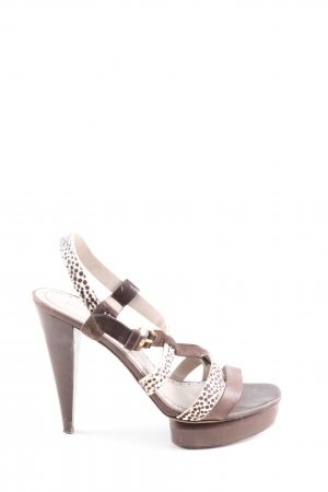 Marc by Marc Jacobs Slingback-Pumps braun-weiß Allover-Druck Casual-Look