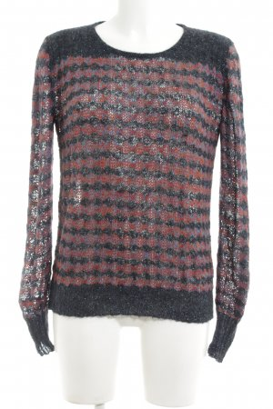 Marc by Marc Jacobs Strickpullover schwarz-rot abstraktes Muster Casual-Look