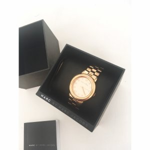Marc by Marc Jacobs Uhr Roségold Damenuhr Blogger Style Gliederarmband