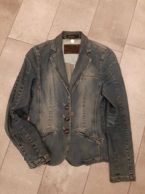 Marc Cain Marynarka jeansowa niebieski