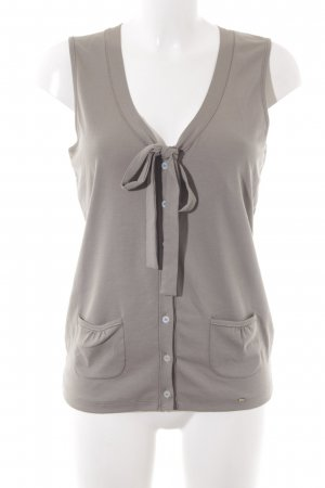 Marc Cain Sleeveless Blouse light brown casual look