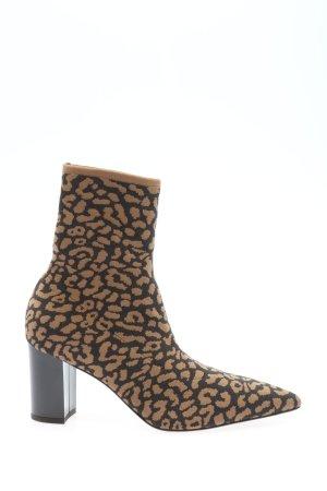 Marc Cain Ankle Boots schwarz-braun abstraktes Muster Elegant