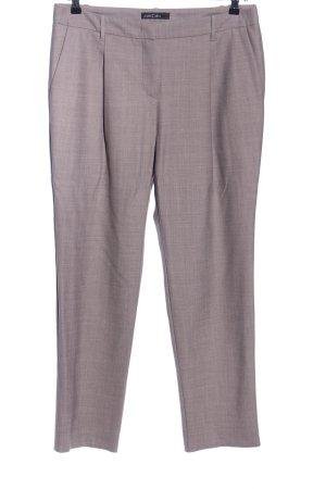 Marc Cain Pantalón de vestir gris claro Patrón de tejido estilo «business»