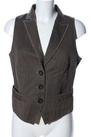 Marc Cain Anzugweste braun-wollweiß Streifenmuster Elegant