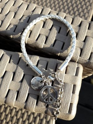 Marc Cain Leather Bracelet silver-colored leather