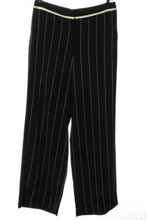 Marc Cain Pantalón abombado negro-blanco look casual