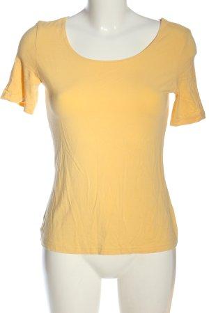 Marc Cain Basic-Shirt blassgelb Casual-Look