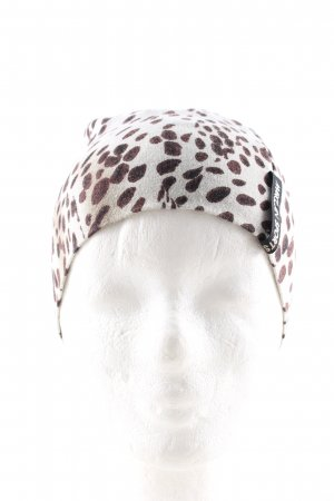 Marc Cain Beanie light grey-brown animal pattern casual look