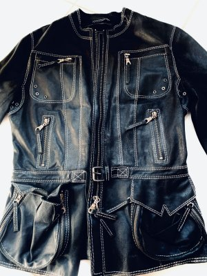 Marc Cain Veste motard noir cuir