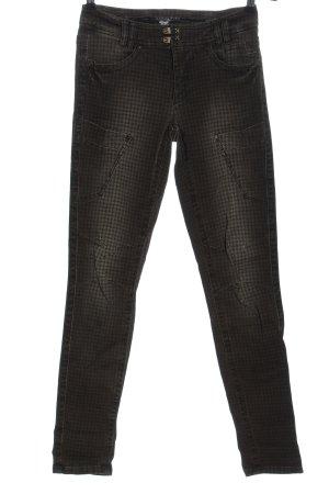 Marc Cain Jeans de moto noir imprimé allover style décontracté