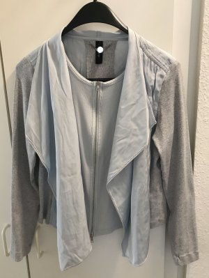 Marc Cain Blouse Jacket grey-azure