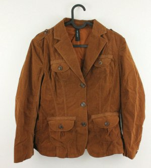 MARC CAIN Blazer Jacket Gr. N 3 38 cognac braun Cord