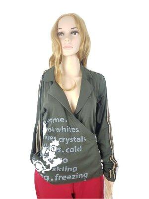 MARC CAIN Bluse Gr. N 5 / 40 Damen Oberteil Baumwolle Elasthan