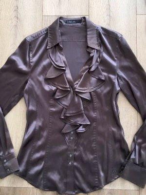 Marc Cain Bluse Gr. N5 / 40 Seide & Dunkel Lila Farbe  Luxus Pur!