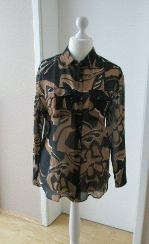 Marc Cain Colletto camicia nero-bronzo Cotone