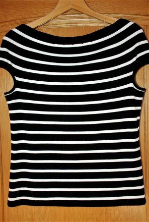 Marc Cain Sweat Shirt black-white copper rayon