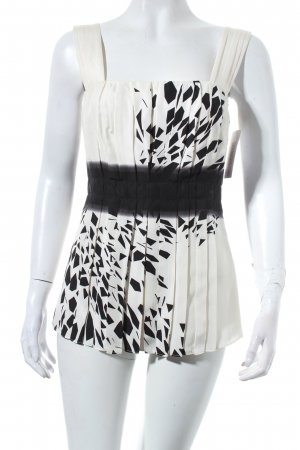 Marc Cain Blusentop wollweiß-schwarz grafisches Muster Party-Look
