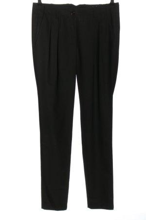 Marc Cain Spodnie z zakładkami czarny W stylu biznesowym