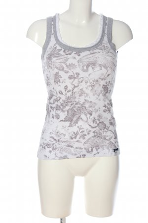 Marc Cain Camisoles white-light grey themed print casual look