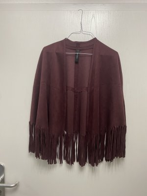 Marc Cain Fringed Vest multicolored