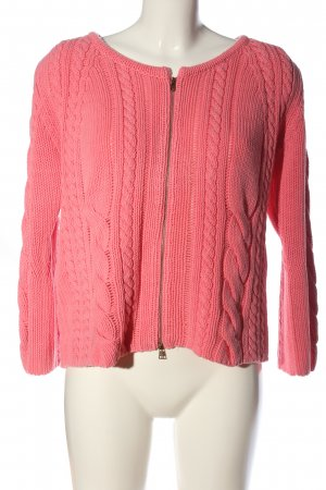 Marc Cain Cardigan pink Zopfmuster Casual-Look