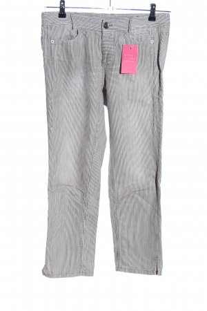 Marc Cain Chinos light grey-white striped pattern casual look
