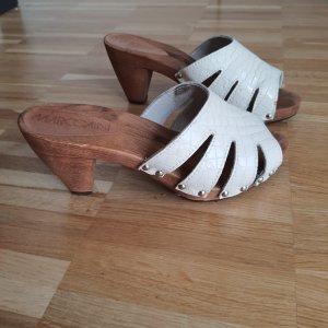 Marc Cain Socque blanc cassé-blanc cuir