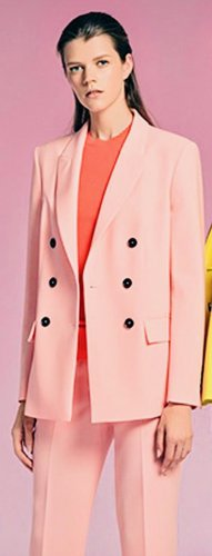 Marc Cain Collections Doppelreiher Blazer Pink rosa 42 N5