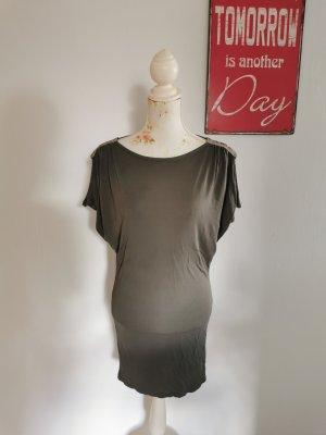 Marc Cain Sukienka o kroju koszulki khaki Wiskoza