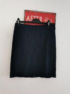Marc Cain Kanten rok donkerblauw Cupro
