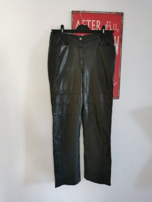 Marc Cain Leather Trousers black leather