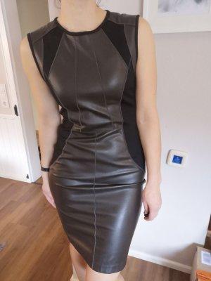 Marc Cain elastischem Leder emitat Abend Kleid GR 38 neu mit Etikette