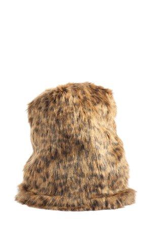 Marc Cain Sombrero de piel marrón-negro look casual