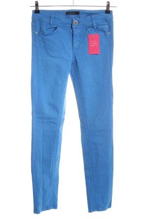 Marc Cain Pantalon cinq poches bleu style décontracté