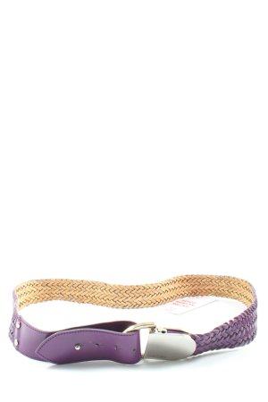 Marc Cain Cinturón trenzado lila look casual