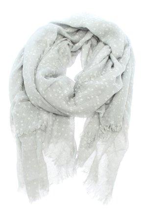 Marc Cain Bufanda de flecos gris claro-blanco puro look casual