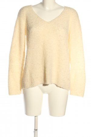 Marc Cain Grobstrickpullover creme meliert Casual-Look