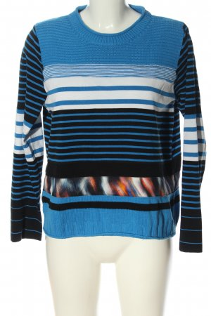 Marc Cain Crochet Sweater striped pattern casual look