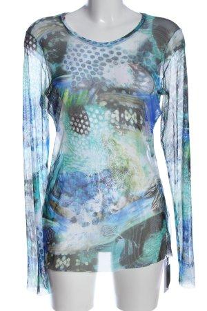 Marc Cain Top en maille crochet motif abstrait style décontracté