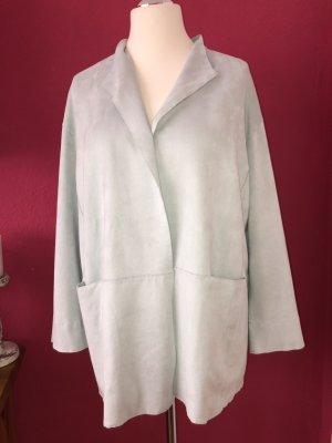 Marc Cain Leren jas lichtblauw Polyester