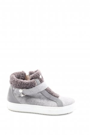 Marc Cain High Top Sneaker light grey flecked casual look
