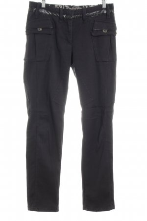 Marc Cain High-Waist Hose schwarz Casual-Look