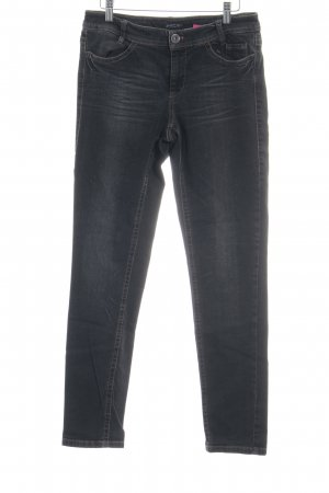 Marc Cain High Waist Jeans dunkelgrau Used-Optik