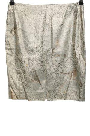 Marc Cain Jupe taille haute gris clair-noir imprimé allover style décontracté