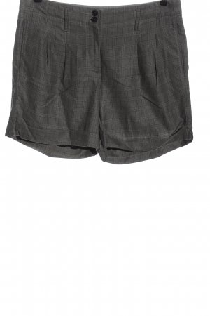 Marc Cain High-Waist-Shorts schwarz-creme Karomuster Casual-Look