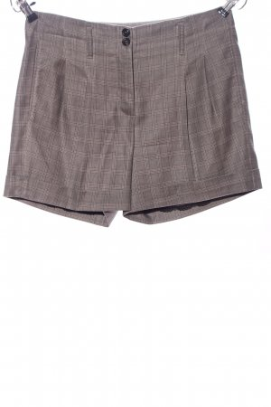 Marc Cain High-Waist-Shorts light grey check pattern casual look