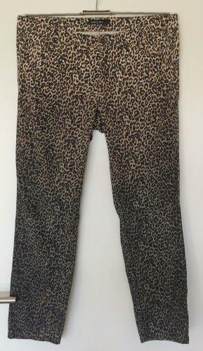 MARC CAIN Hose Jeans Leomuster Farbverlauf schwarz/braun/beige Gr. 44 N6