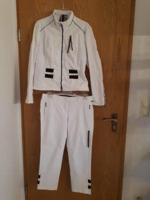 Marc Cain Tailleur-pantalon blanc-noir