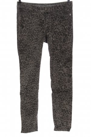 Marc Cain Low-Rise Trousers brown leopard pattern casual look